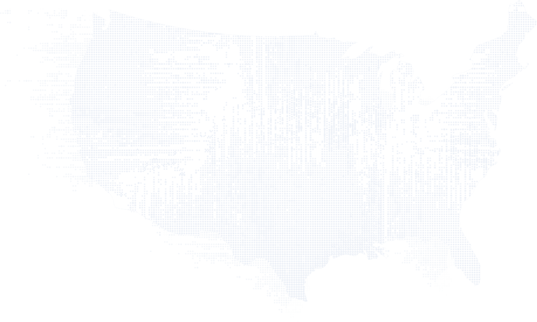US map using dots